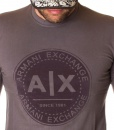 Armani Sueters - Exchange Camiseta Manga Larga - Gris