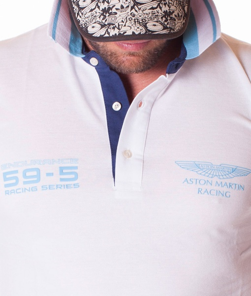 Aston Martin Polos De Manga Corta - Polo Racing Series Blanco