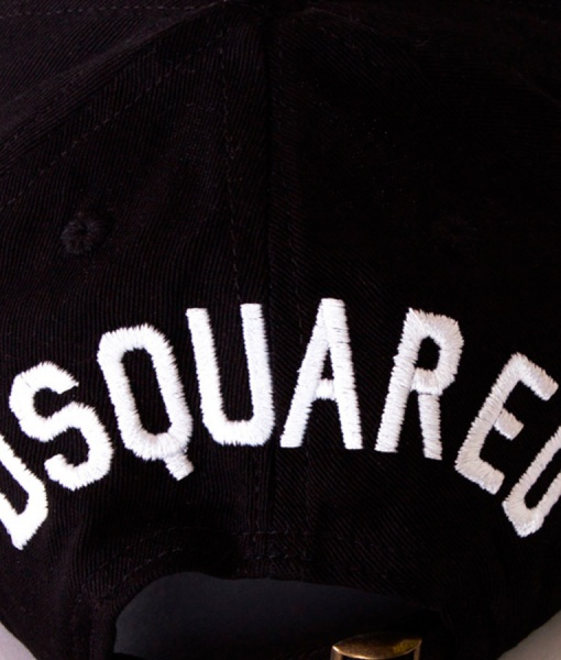 Dsquared Gorros - Gorra de Beisbol Brother Hill Gang Negra