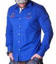 Camisas Manga Larga - Guards Club Camisa Azul