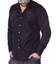 Camisas Manga Larga - Guards Club Camisa Negro