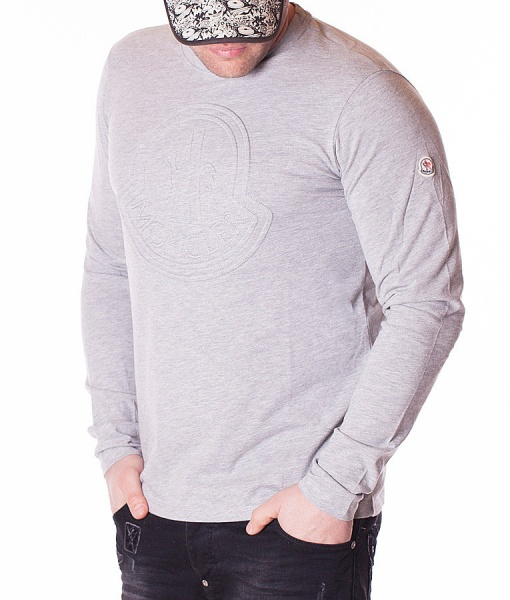 Moncler Sueters - Sueter Clasico Logo - Gris