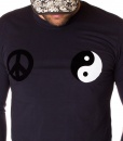 Moschino Sueters - Camiseta Manga Larga Peace Love - Azul Marino