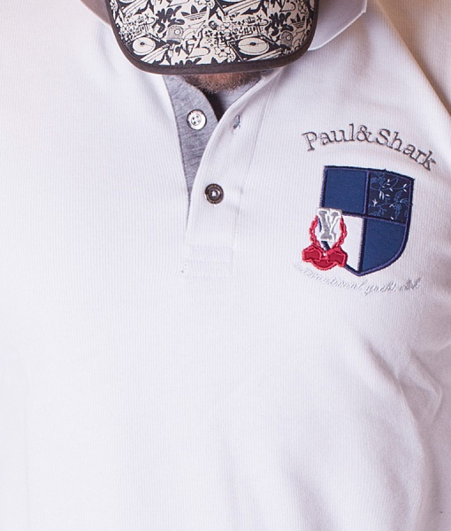 Paul & Shark Polos De Manga Larga - Polo Interenational Yacht Club - Blanco