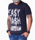 Camisetas cuello redondo - Easy Cash Art Camiseta Azul Marino