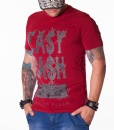 Philipp Plein Camisetas Cuello Redondo - Easy Cash Art Camiseta Rojo